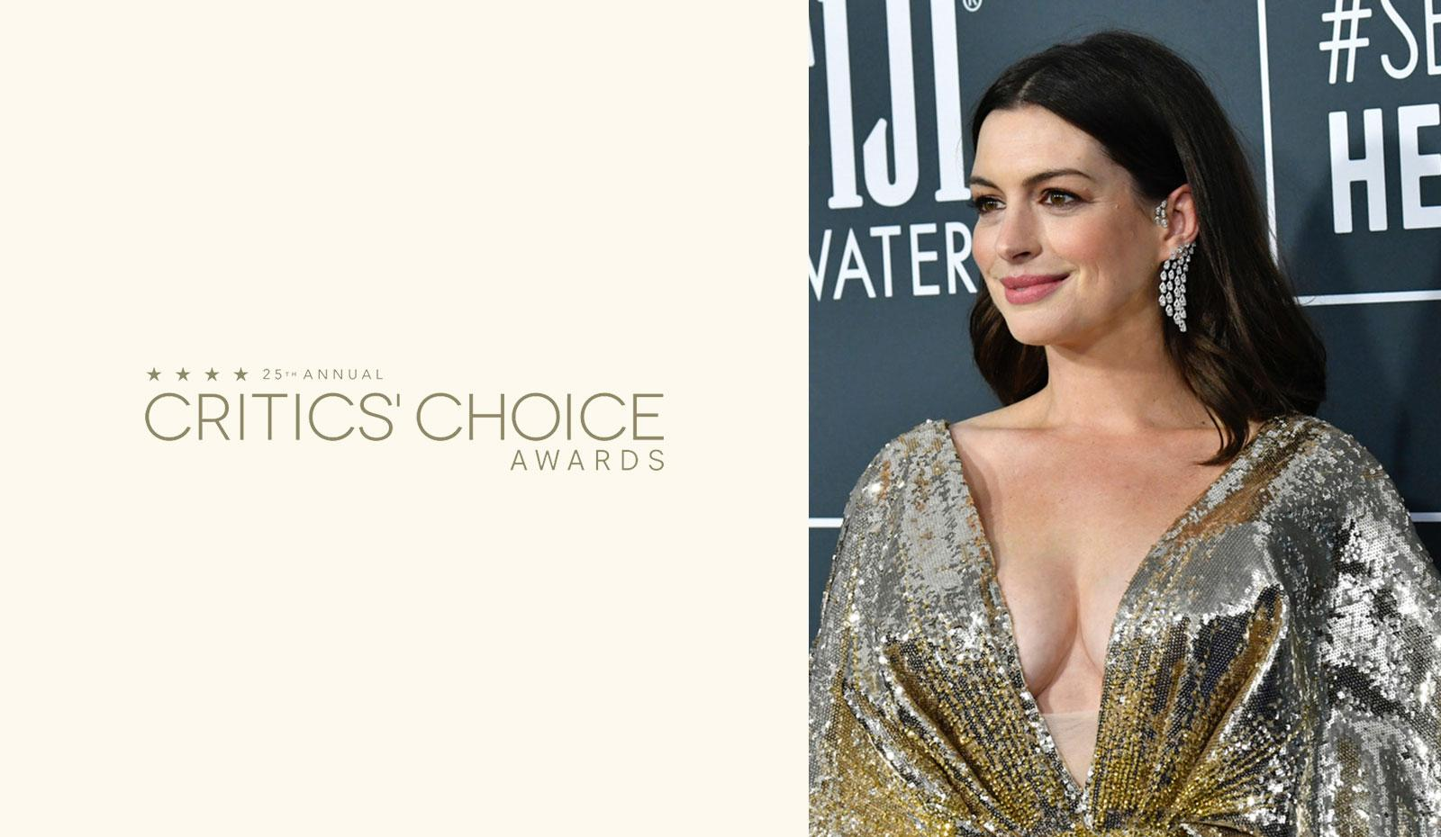 2020 Critic's Choice Awards: Anne Hathaway's Natural Waves