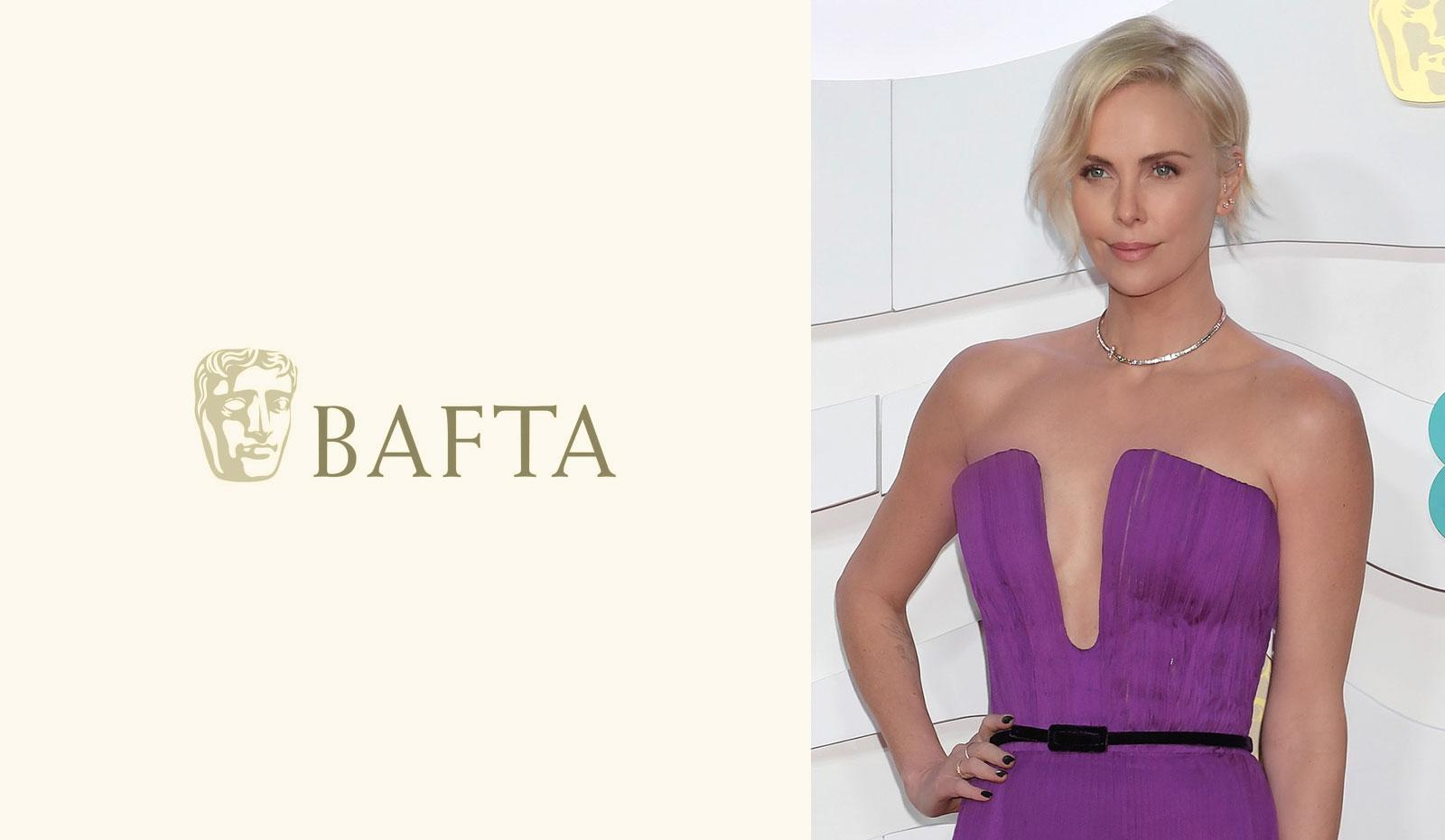 2020 British Film Academy Awards: Charlize Theron's Side Swept Soft Wave