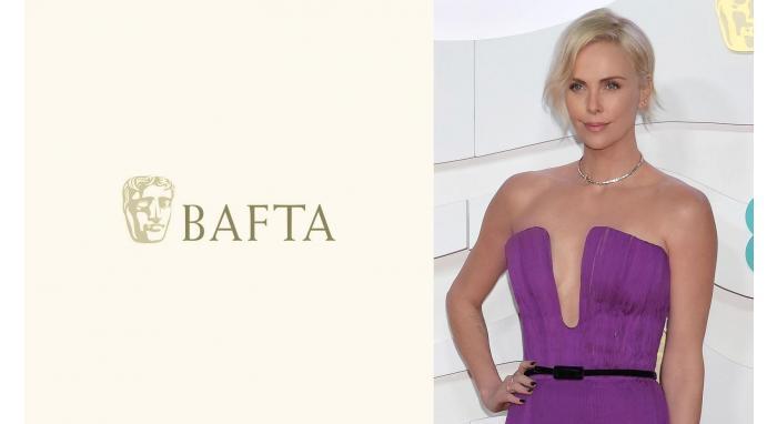 2020 British Film Academy Awards: Charlize Theron's Side Swept Soft Wave