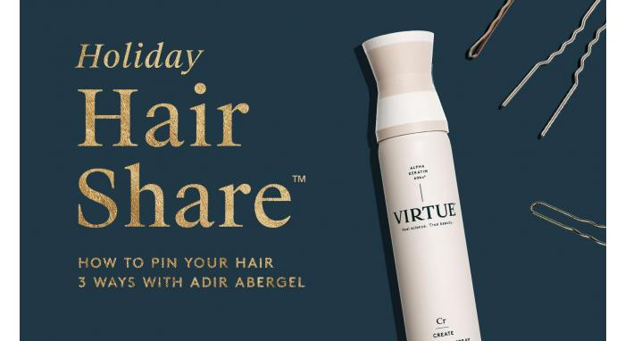 The Holiday Hair Share™: How To Pin Your Hair Three Ways with Adir Abergel