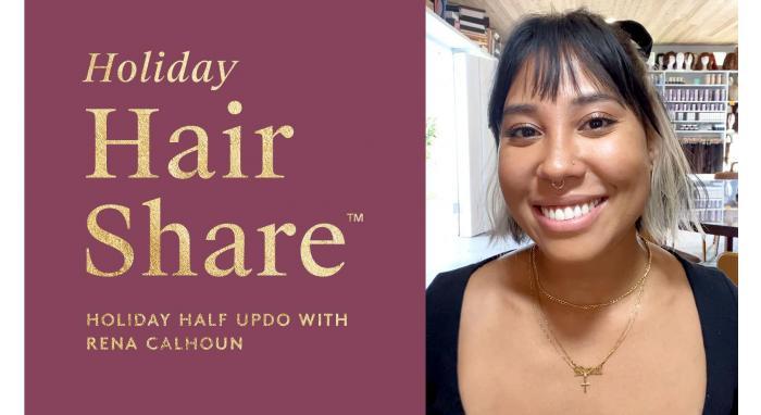 The Holiday Hair Share™: Holiday Half Updo with Rena Calhoun