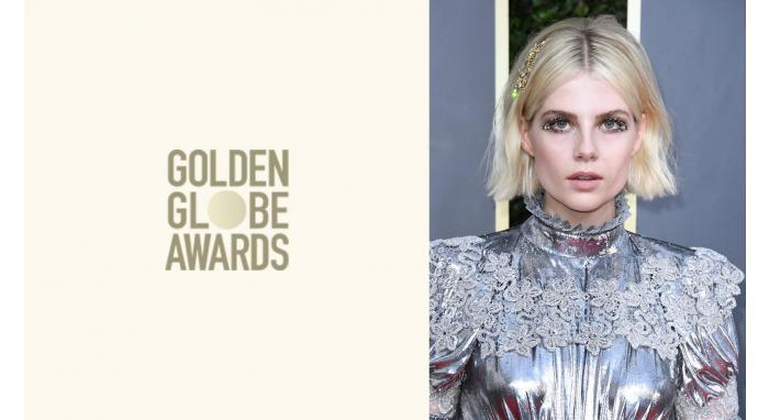 2020 Golden Globes: Lucy Boynton's Textured Blunt Bob