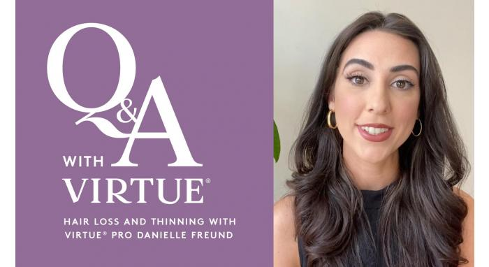 Q&A with Virtue: Hair Loss and Thinning with Virtue® Pro Danielle Freund