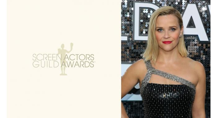 2020 SAG Awards: Reese Witherspoon's Modern Deep Side Part