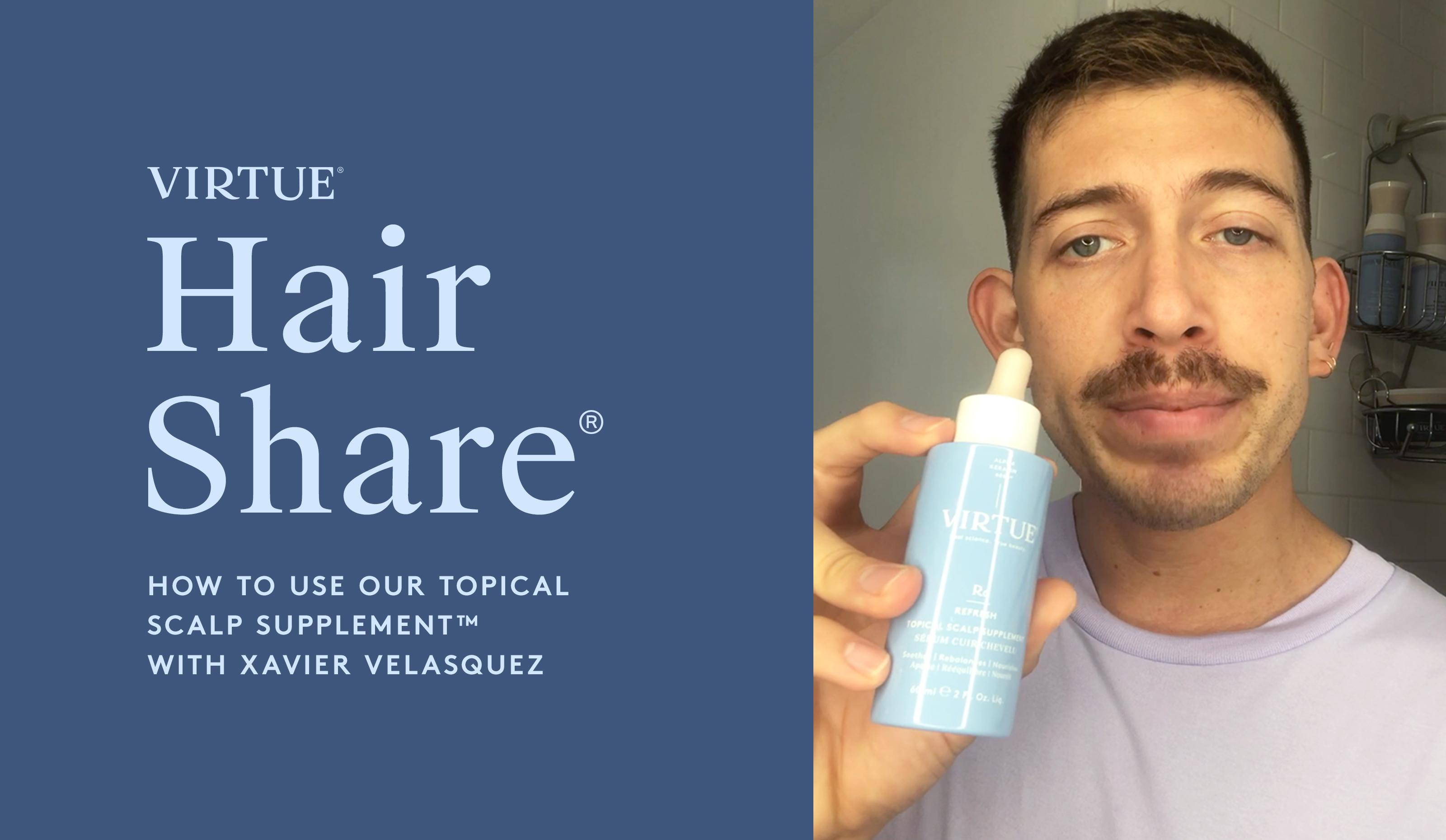 The Hair Share®: How to Use Our Topical Scalp Supplement™ with Xavier Velasquez