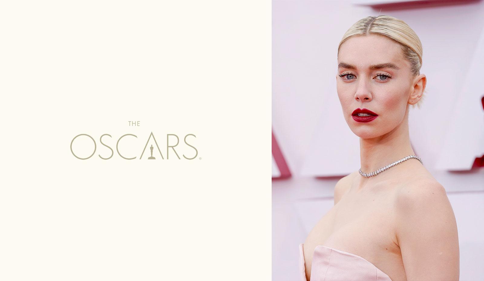 2021 Academy Awards: Vanessa Kirby's Slicked Back Chignon
