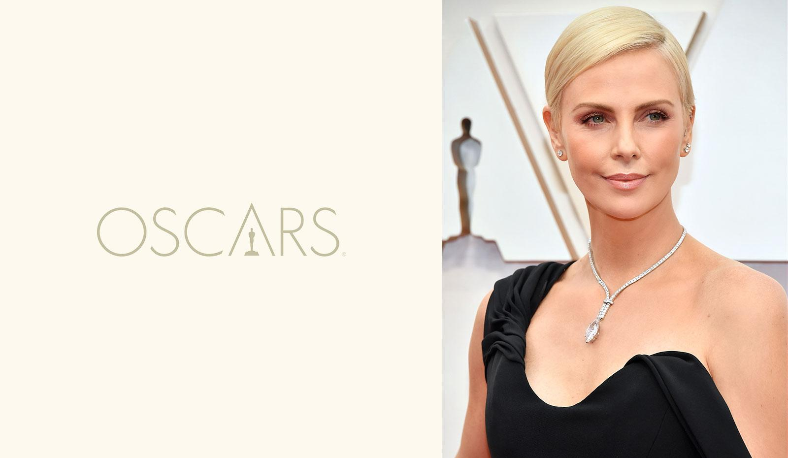 2020 Academy Awards: Charlize Theron's Smooth Deep Side Part