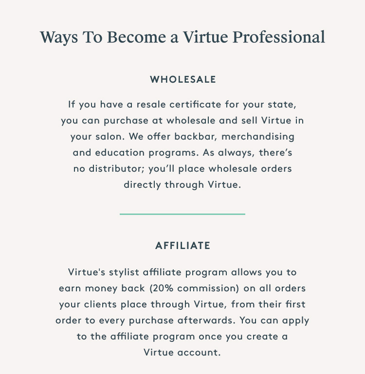 Virtue | Create a Stylist Account