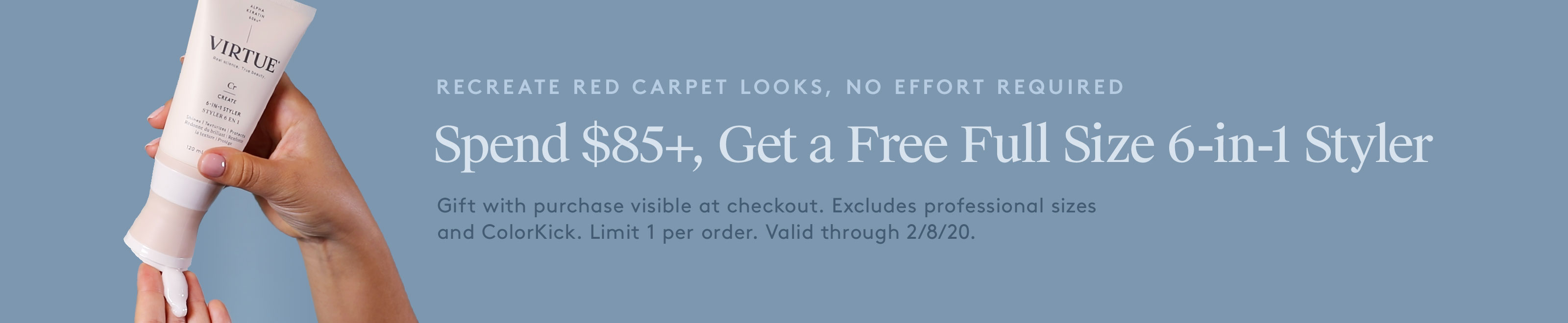 Spend $85+, Get a Free Full Size 6-in-1 Styler