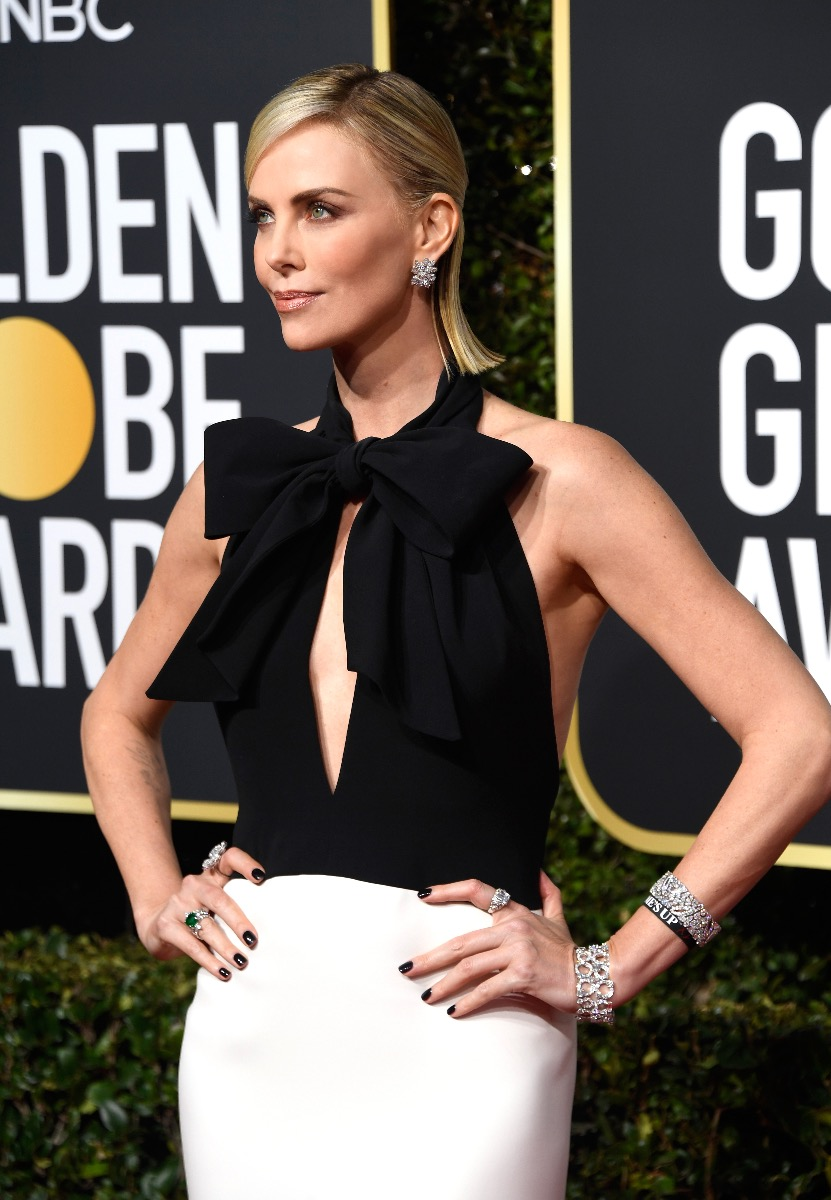 Charlize Theron 2019 Golden Globes Styled #withVIRTUE