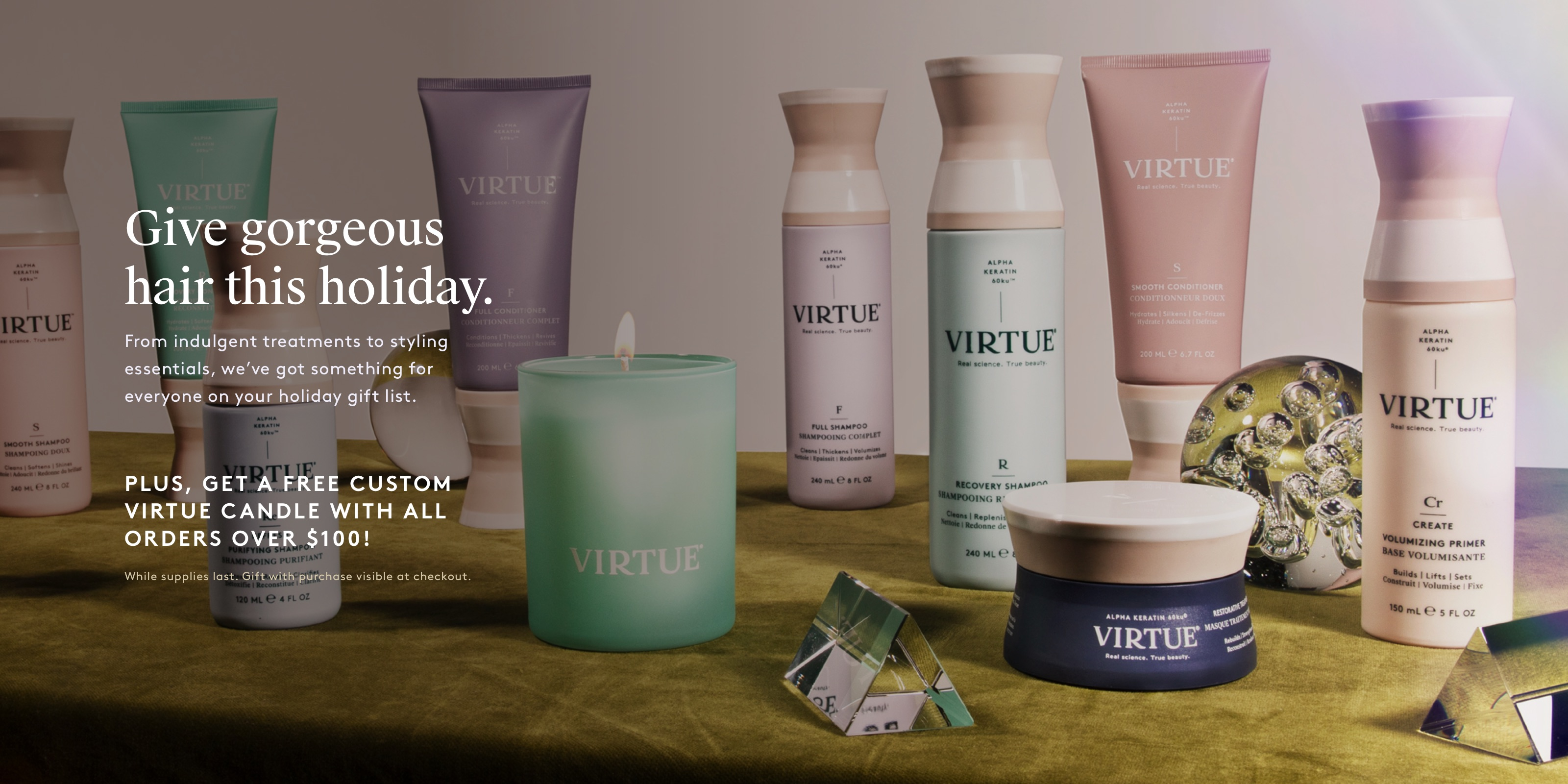Get a Free Custom Virtue Candle With All Orders Over $100