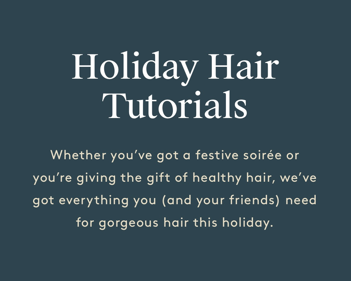 The Holiday Hair Primer