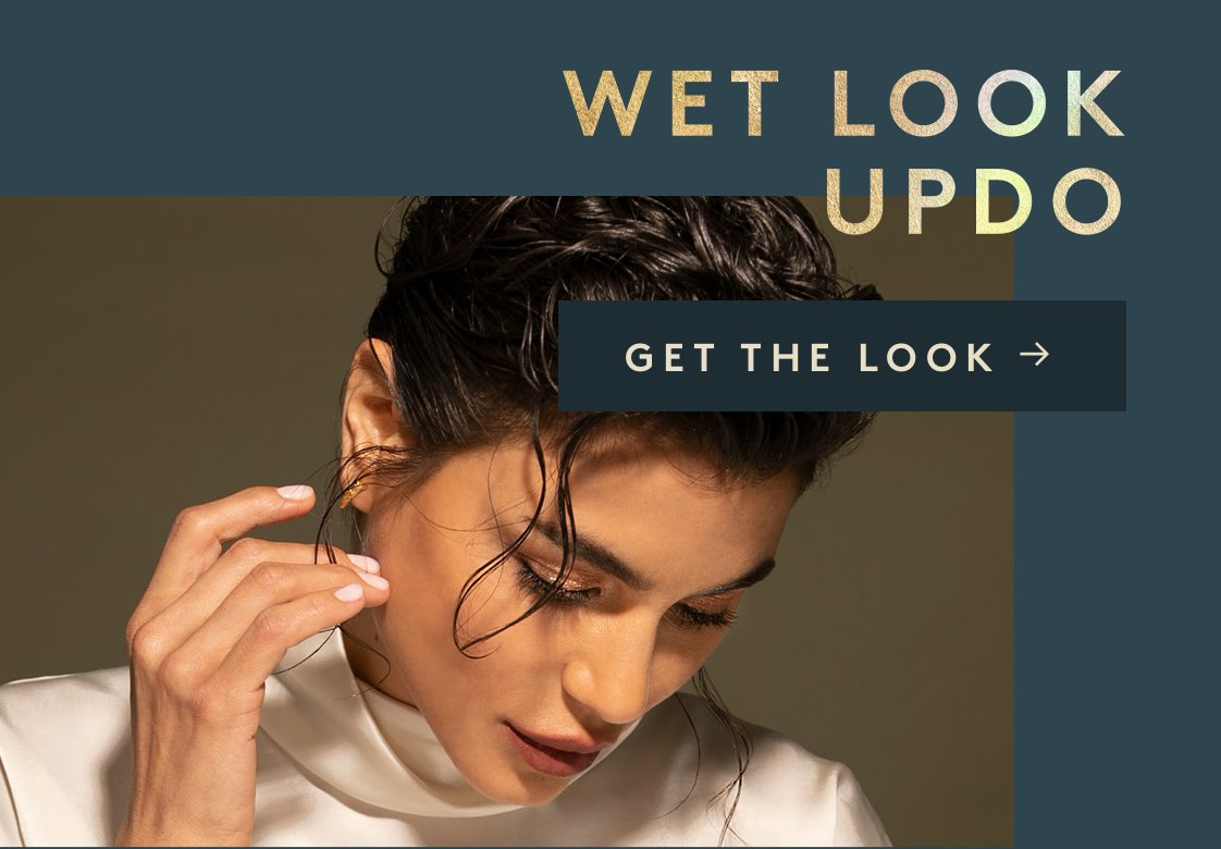 Wet Look Updo
