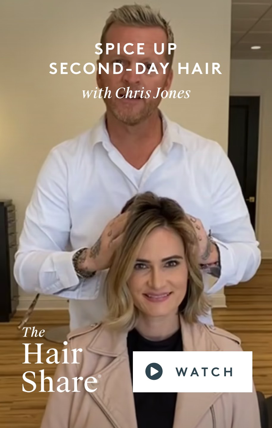 Spice Up Second-Day Hair With Chris Jones