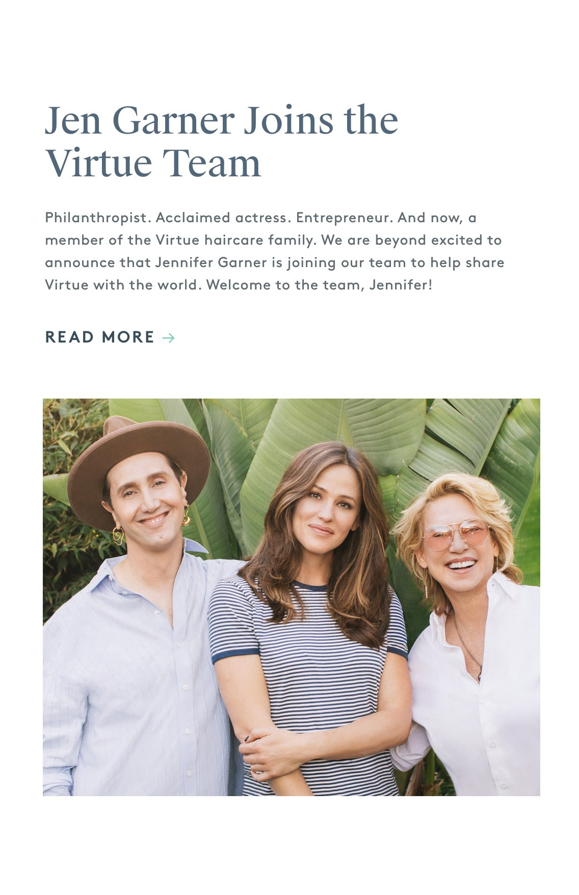 Jennifer Garner Joins the Virtue Team