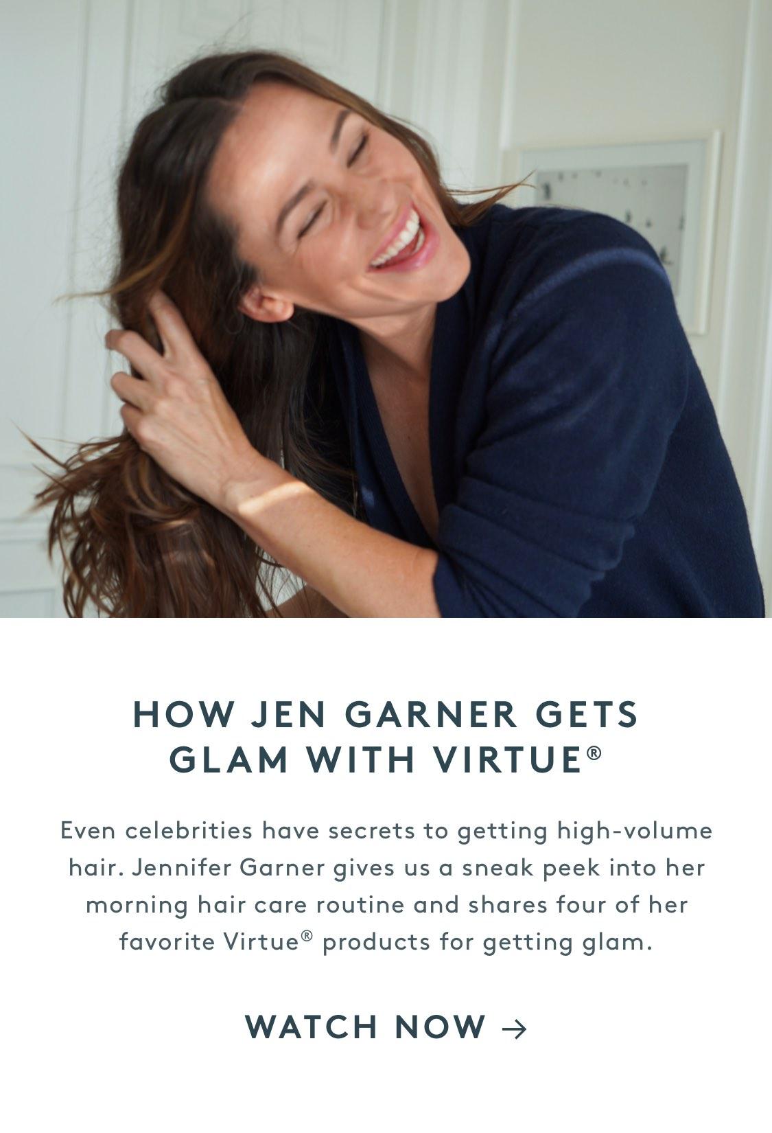 How Jen Garner Gets Glam With Virtue®