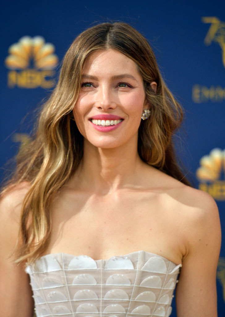 Jessica Biel Emmys 2018 styled with Virtue by Adir Abergel