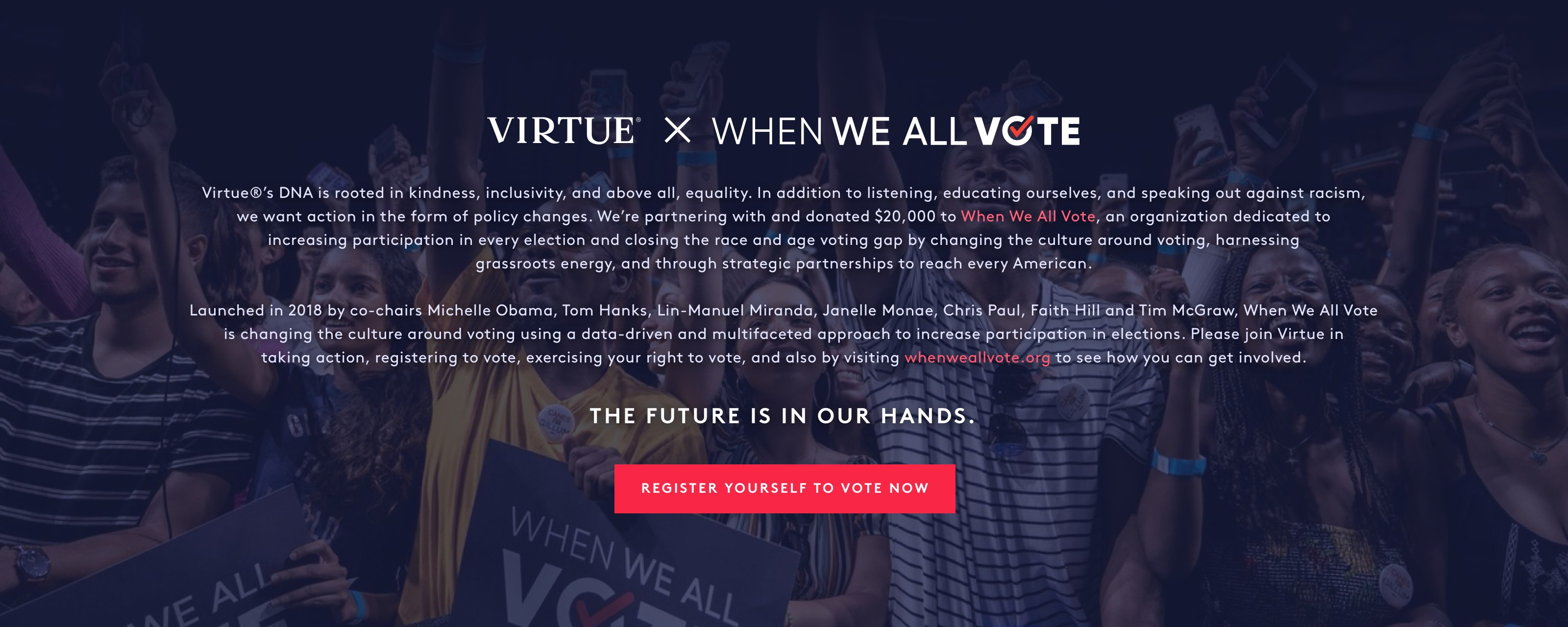 Virtue x When We All Vote